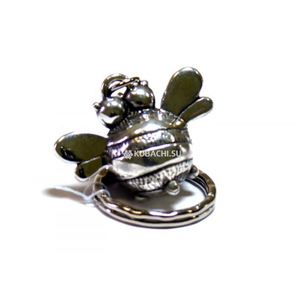 Серебряный Брелок Пчела Жужжа