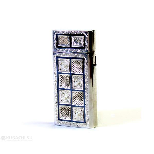 Зажигалка ручной работы из серебра
