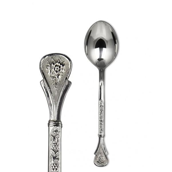 Серебряная чайная ложка Антонина кубачинских мастеров