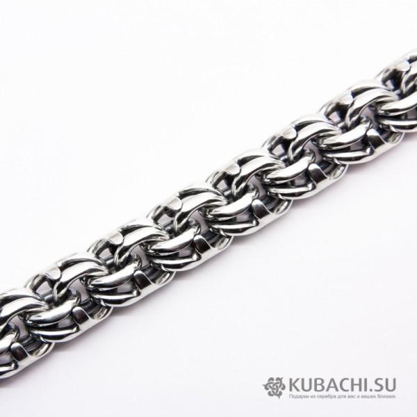 Серебряный браслет  Бисмарк 14 мм