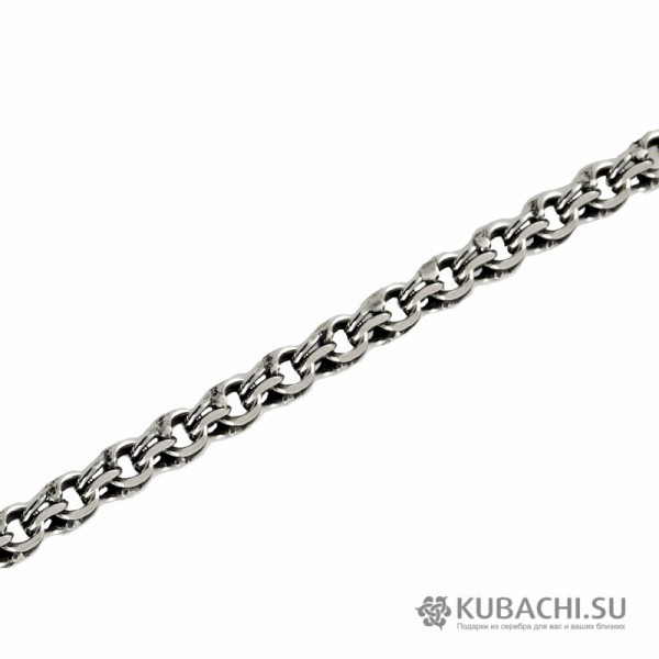 Серебряный браслет  Бисмарк 6мм