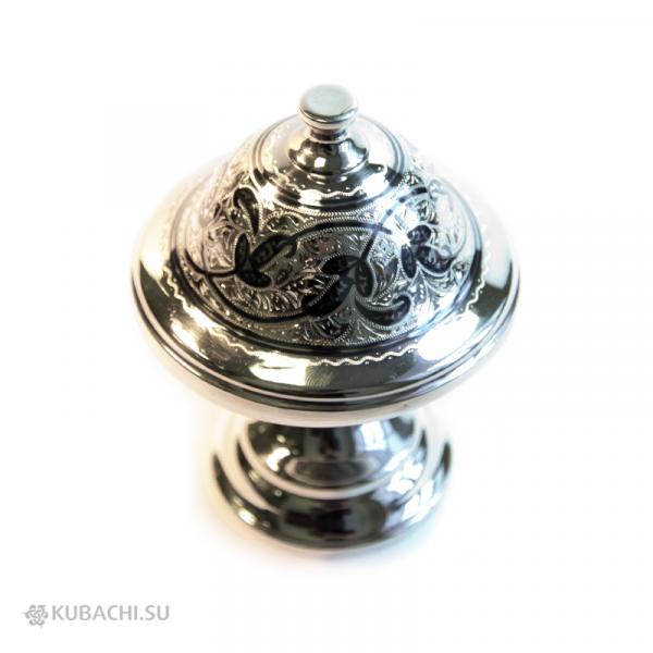 Серебряная икорница Кубачи