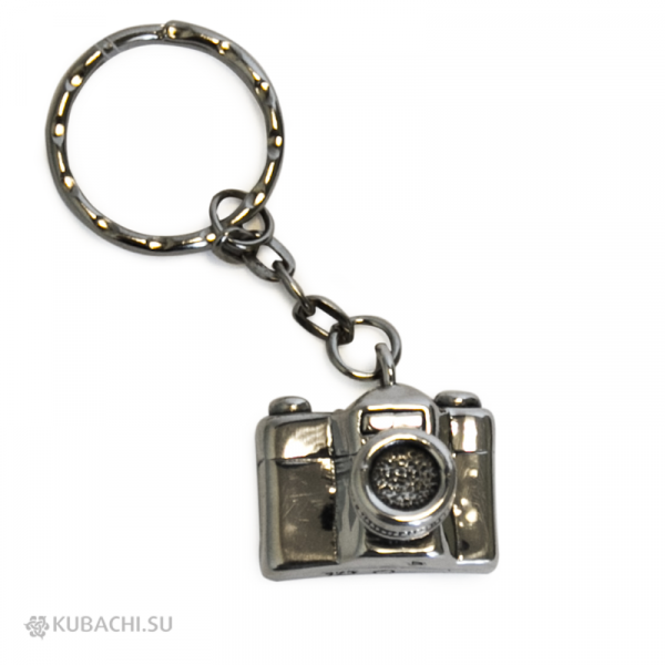 Серебряный брелок фотоаппарат