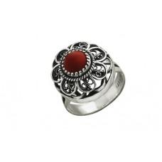 Кольцо с кораллом Алена