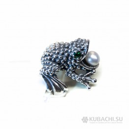 Кольцо Лягушка Кубачи