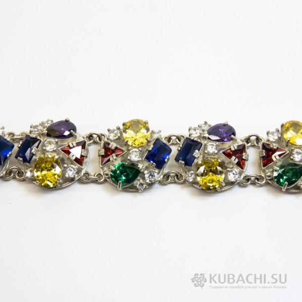 Серебряный браслет Кубачи Весенние цветы