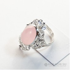 Кольцо с розовым кварцем Аннамария