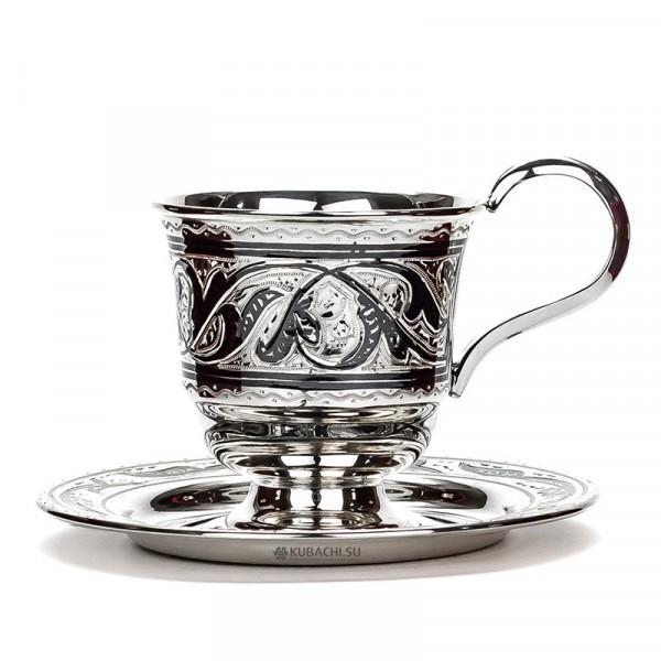 Серебряная чайная пара Азия