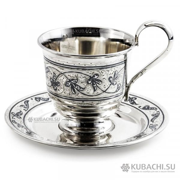 Серебряная кофейная пара Фумико кубачинских мастеров