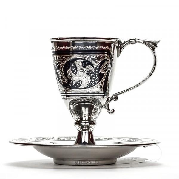 Кофейная пара из серебра Арктика