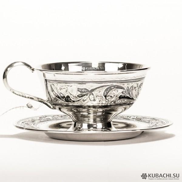 Серебряная чайная пара Кубачи