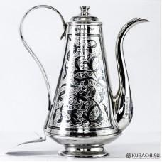 Кофейник из серебра Кубачи