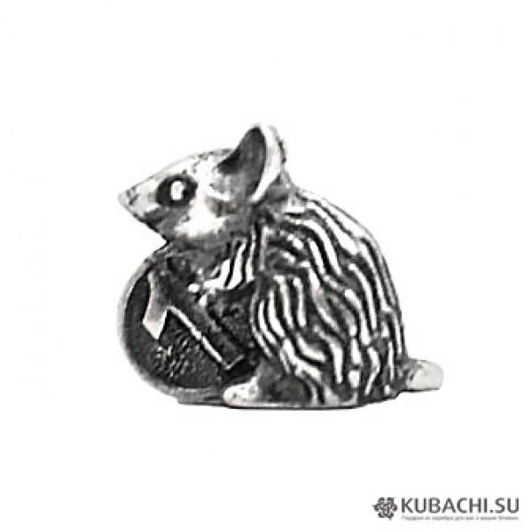 Сувенир мышь кошельковая из серебра