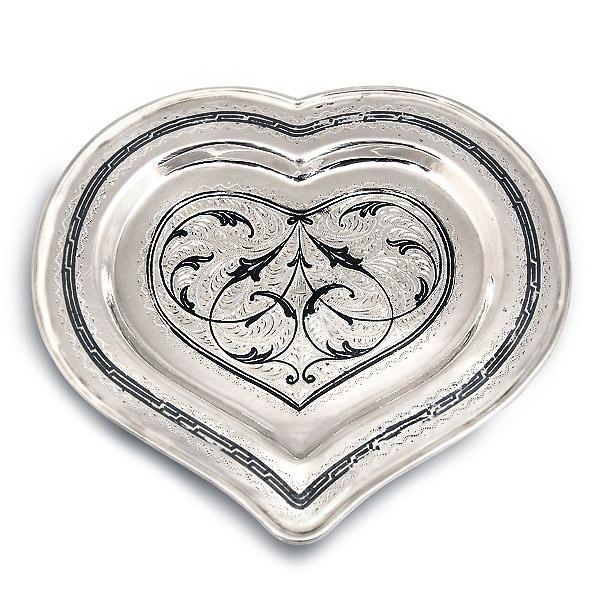Серебряный Поднос Сердце Кубачи