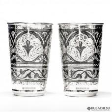 Серебряные стаканы Кубачи