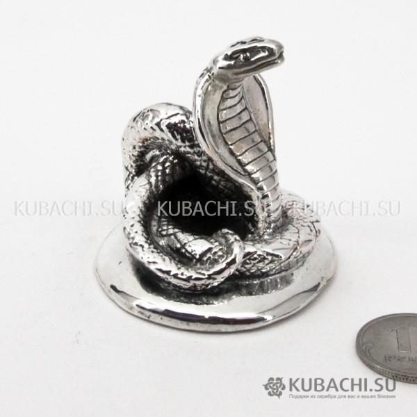 Серебряная Статуэтка Кобра маленькая