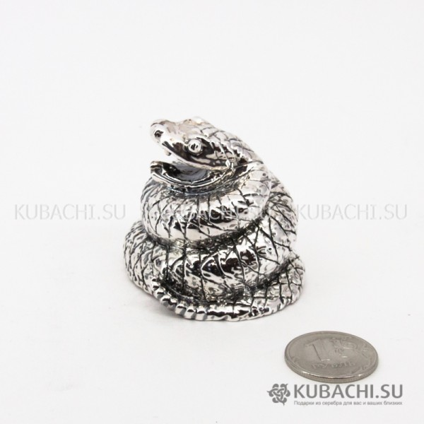 Серебряная Статуэтка Змея в клубке