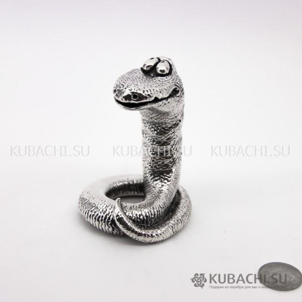 Серебряная Статуэтка Змейка