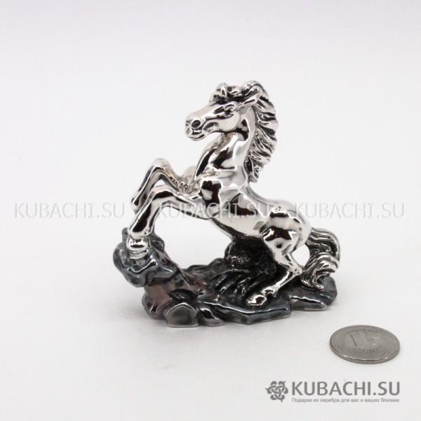 Серебряная Статуэтка Конь на дыбах