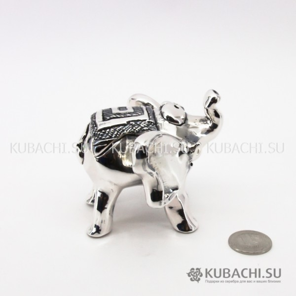 Серебряная Статуэтка Слон с ковриком
