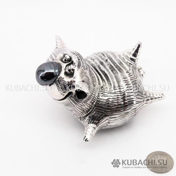 Серебряная Статуэтка Кот большой