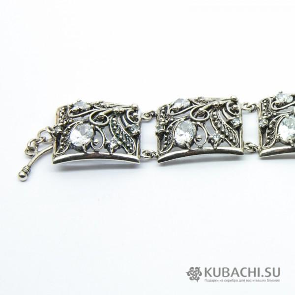 Серебряный браслет Ванесса Кубачи