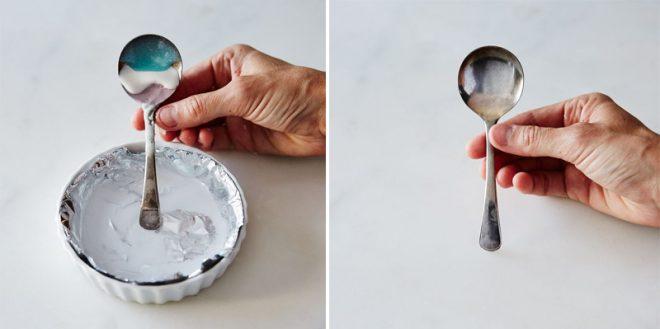 Как придать блеск столовым приборам